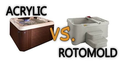 roto molded vs acrylic hot tub